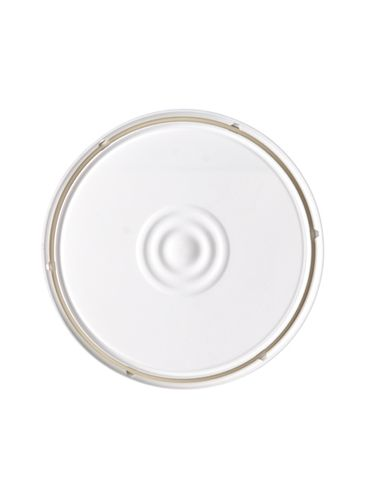 1 gallon white HDPE plastic lid with gasket of 65 mil thickness