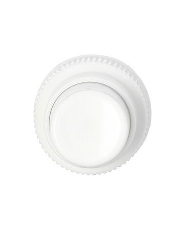 White PP plastic 24-410 ribbed skirt regular mist fingertip sprayer with 8.25 inch dip tube (0.85 cc output)