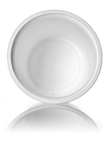 6 oz white PP plastic round tub