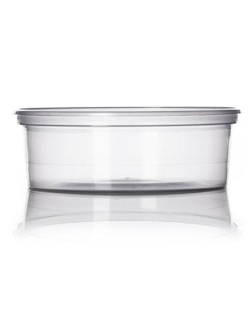 8 oz natural-colored PP plastic round tub