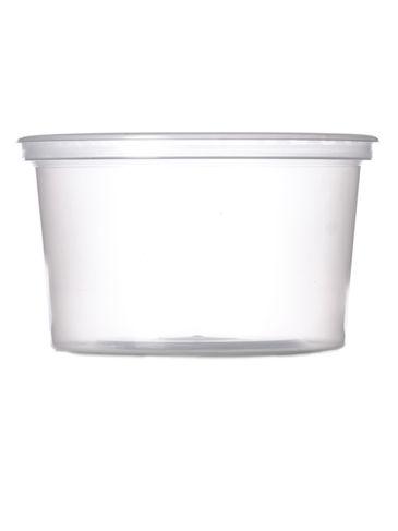 14 oz natural-colored PP plastic round tub