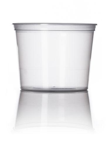 12 oz natural-colored PP plastic round tub
