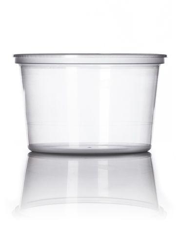 16 oz natural-colored PP plastic round tub