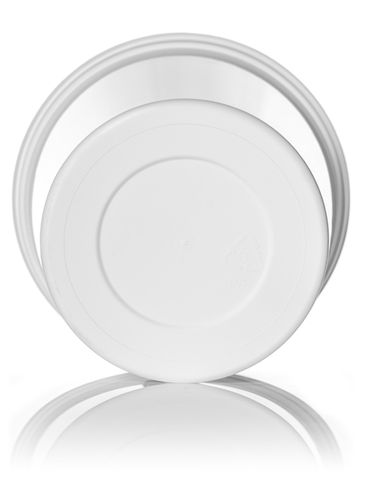 21.2 oz white PP plastic round tub