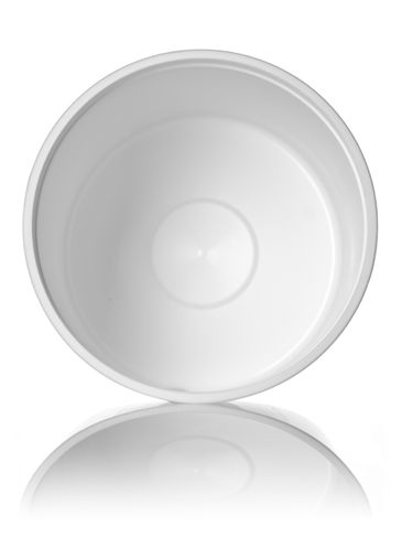 50.2 oz white PP plastic round tub