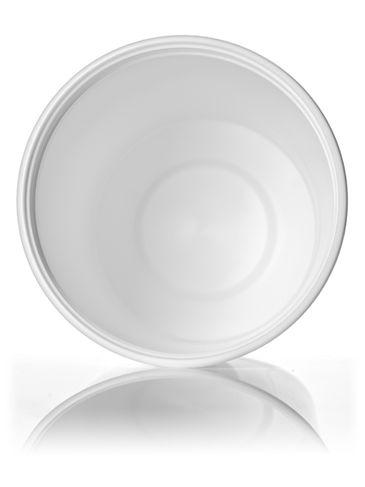 32 oz white HDPE plastic round tub