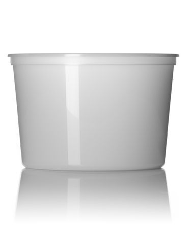 64 oz natural-colored PP plastic round tub