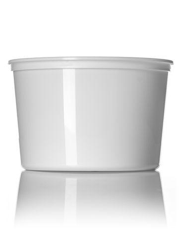 64 oz white PP plastic round tub