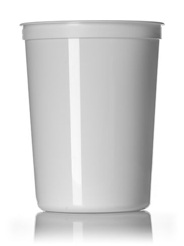 85 oz white PP plastic round tub