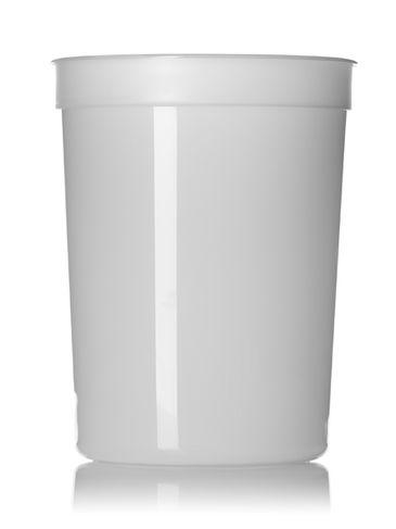 87 oz natural-colored PP plastic round tub