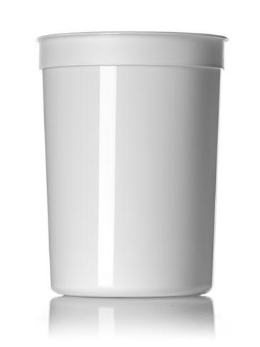 87 oz white PP plastic round tub