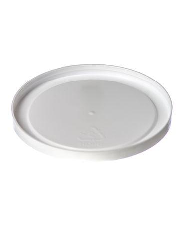 White LDPE plastic 3.25 inch flat tub lid