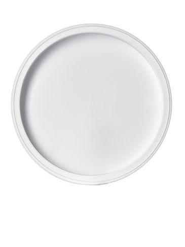 White LDPE plastic 4.625 inch recessed tub lid