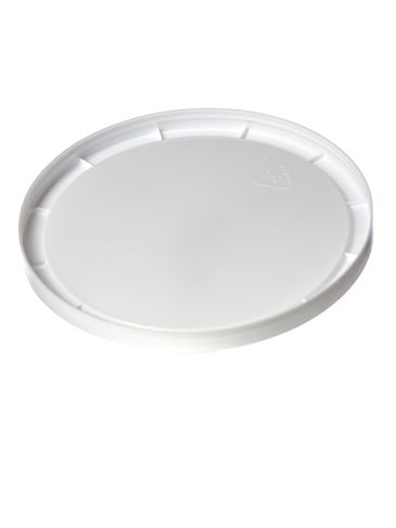 White PP plastic 4.5 inch flat round tub lid for T032 and T033