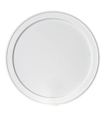 White LDPE plastic 6.1875 inch flat tub lid