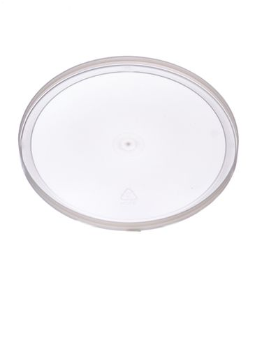 Natural-colored LDPE plastic 6.625 inch flat tub lid