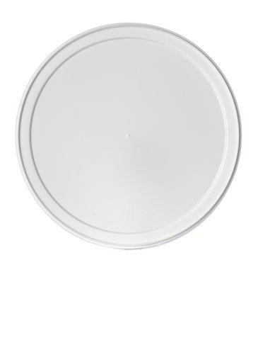 White HDPE plastic long-skirted tub lid