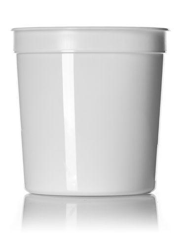 16 oz white PP plastic round tub
